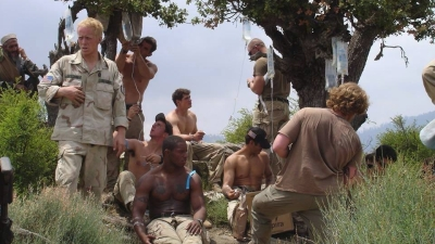 U.S. Army Rangers use IV fluids to rehydrate 46 hours into the rescue mission following Operation Red Wings II, July 2005